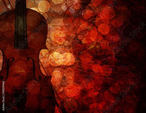 Fototapeta Violin Grunge Background Illustration
