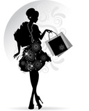 Elegant Lady shopping