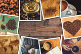 Fototapety Coffee photo collage