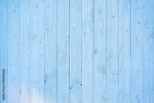 fototapeta na ścianę Pale blue wood plank surface texture