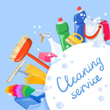 cleaning products backgroud