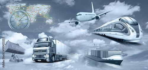 Naklejka Transport, Logistik, Personenverkehr, Frachtverkehr