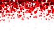 Obrazy na płótnie, fototapety, zdjęcia, fotoobrazy drukowane : Background with red hearts.