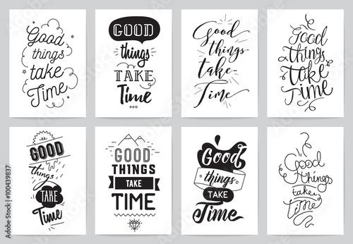 Inspirational cards 8 set canvas