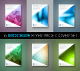 Set of 6 Brochure template, Flyer Design and Depliant Cover for business