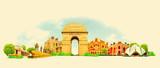 vector watercolor DELHI city illustration