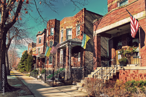 Papiers peints Chicago Typical architecture in the Ukrainian Village at Chicago, USA