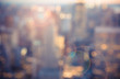 Defocused blur across urban buildings in New York City - 100454225