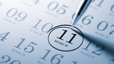 March 11 written on a calendar to remind you an important appoin