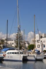 Port El Kantaoui w Tunezji.
