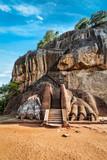 Lion paws pathway on Sigiriya rock, Sri Lanka