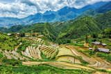Rice field terraces. Near Sapa, Mui Ne