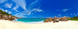 Panorama of tropical beach at Seychelles - Fine Art prints