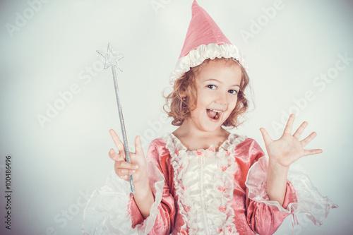Zdjęcia na płótnie, fototapety, obrazy : bella fata con la bacchetta magica