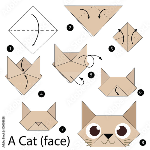 Step by step instructions how to make origami a cat for How to build a cat