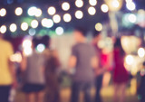 Festival Event Party with People walking Blurred Background - Fine Art prints