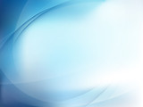 Blue Light Wave Abstract Background. EPS 10