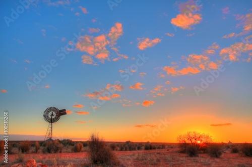 fototapeta na ścianę Windmill in remote Australian outback