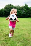 Little Girl With Soccer Football Ball