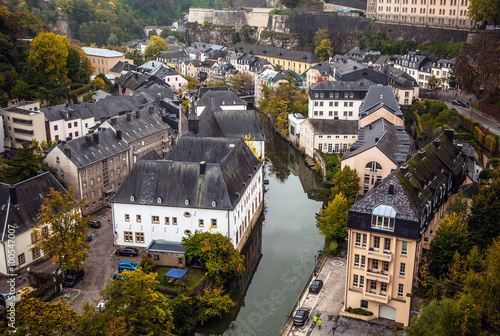 Keuken foto achterwand Antwerpen Aerial view of autumn park in district of Luxembourg City.