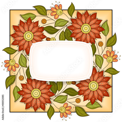 Tuinposter Abstract bloemen Vector Colored Floral Background