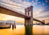 Brooklyn Bridge in the Morning in New York City, USA.