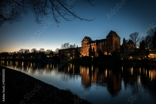 Poster Castello del Valentino sul fiume Po