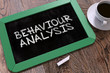 Постер, плакат: Behaviour Analysis Chalkboard with Hand Drawn Text