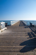 Long pier to the horizon in California