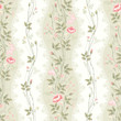 seamless pattern with floral rose borders and lace