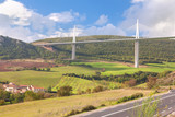 the highest bridge in the world from  Millau town in France