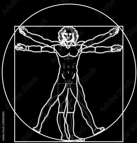 Poster The Vitruvian Man