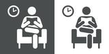 Icono plano sala de espera - 100615054