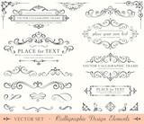 Fototapety Calligraphic Design Elements