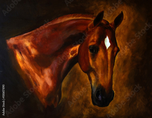 Classical horse portrait painting
