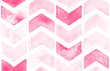 Pink chevron with white background. Watercolor seamless pattern for fabric