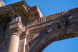 Diseño en la parte superior de la entrada del templo inconcluso la Preciosa Sangre en Mascota Jalisco.