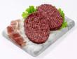 Obrazy na płótnie, fototapety, zdjęcia, fotoobrazy drukowane : Hamburger di equino con speck