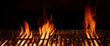 Fototapety Empty Hot Flaming Charcoal Barbecue Grill With Bright Flame Isol