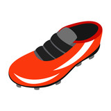 Sport shoe with cleats isometric 3d icon