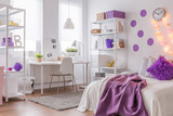 Fototapety Modern interior with purple color