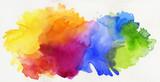 aquarell regenbogen abstrakt freigestellt - 100662450