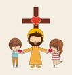 Obrazy na płótnie, fototapety, zdjęcia, fotoobrazy drukowane : Catholic love design