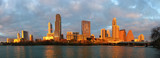 Fototapety Panorama of Austin skyline glowing at sunset