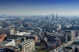 aerial view of  Hamburg, Germany