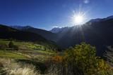 Bergalm in Visperterminen im Wallis, Schweiz