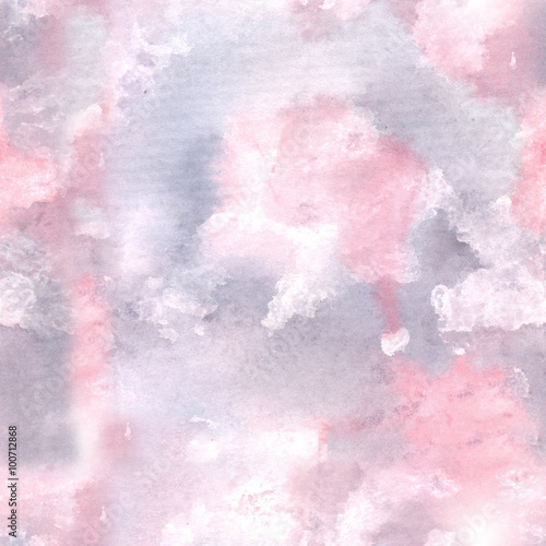 watercolor background pink/ Watercolor painting. Can be used for postcards, prints, paper wrapping and design - 100712868