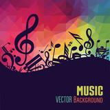 Fototapety Music background. Vector illustration