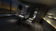 Empty dark interior of a stylish home office - 100719817