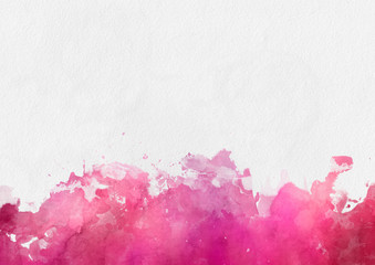 Colorful red watercolor paint template
